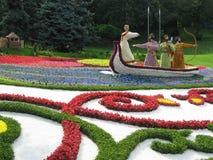 Blommaskulpturer royaltyfri fotografi