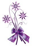 blommasnow Stock Illustrationer