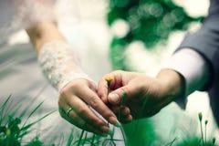 blommasommarbröllop Arkivfoto