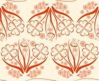 Blommaspegelbukett Vektor Illustrationer