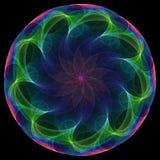 blommaspiral royaltyfri illustrationer