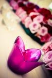 Blommastearinljushållare Arkivfoto