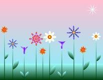 blommastjärna stock illustrationer