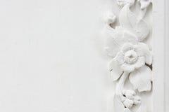 blommastuckaturwhite Royaltyfri Foto