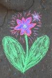 Blommastycke av krita Royaltyfri Fotografi