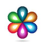Blommasymbol Royaltyfria Bilder
