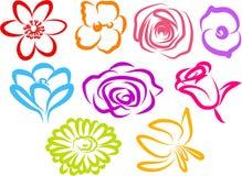 blommasymboler Royaltyfri Fotografi