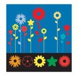 Blommasymbolssamling för all all formgivare vektor illustrationer