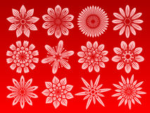 blommasymbolsset Royaltyfria Foton