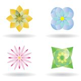 blommasymbolsvektor vektor illustrationer