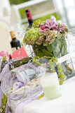 blommatabellbröllop Arkivfoto