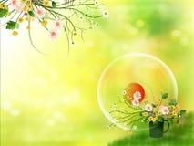 blommaträdgård vektor illustrationer