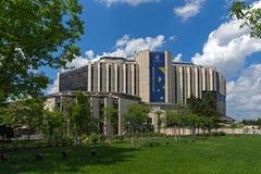Blommaträdgård och medborgareslott av kultur i Sofia, Bulgarien royaltyfri foto