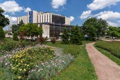 Blommaträdgård och medborgareslott av kultur i Sofia, Bulgarien royaltyfria bilder
