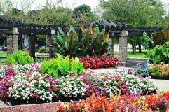 Blommaträdgården, Eichelman parkerar, Kenosha, Wisconsin arkivfoton