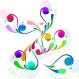blommatwirl Arkivfoto