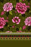 Blommatyg pattern1 Stock Illustrationer