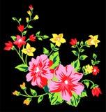 Blommatygdesign 1 Royaltyfri Illustrationer