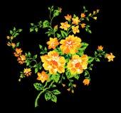 Blommatygdesign 2 Royaltyfri Illustrationer