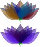 Blommatyplogoer Royaltyfri Bild