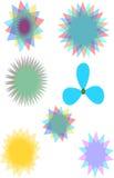 Blommatyplogoer Arkivfoto