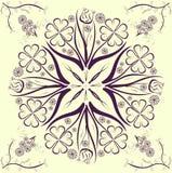 Blommauniversumet Vektor Illustrationer