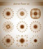 Blommauppsättning royaltyfri illustrationer