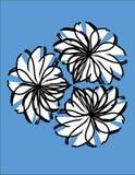 blommavägg Arkivbild