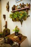 Blommaväxthus, floristic dekorbeståndsdelnärbild royaltyfri foto
