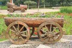 Blommavagn Arkivfoton