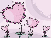 blommavalentiner Royaltyfri Bild
