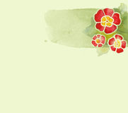 blommavattenfärg Fotografering för Bildbyråer