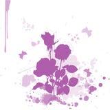 blommavattenfärg Arkivfoton