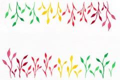 Blommavattenfärg din bakgrundstext Royaltyfri Bild