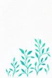 Blommavattenfärg din bakgrundstext Arkivfoto