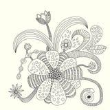 Blommavektorillustration Royaltyfria Bilder