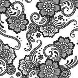 Blommavektorprydnad royaltyfri illustrationer