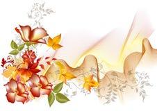 Blommavektorsammansättning med avstånd för text Royaltyfri Illustrationer