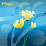 blommayellow stock illustrationer