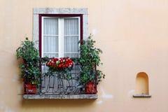 blommig balkong Royaltyfri Bild