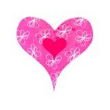 blommig groovy hjärta Royaltyfri Fotografi