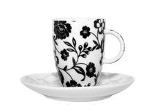 blommig koppespresso Royaltyfria Foton