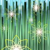 blommig lawn royaltyfri illustrationer