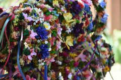 Blommiga huvudbindlar Arkivbilder