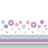 Blommigt änghälsningkort Arkivfoto