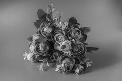 Blommor är på en svartvit bakgrund arkivfoton