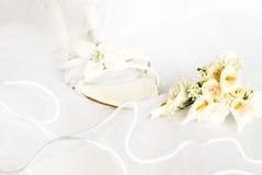blommor över sandals skyler bröllop Royaltyfria Foton
