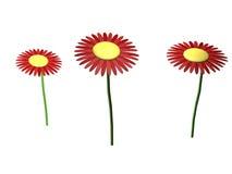 blommor 3d royaltyfri illustrationer
