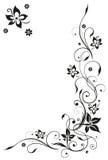 Blommor abstrakt begrepp, ram Arkivfoto