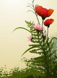 blommor arbeta i trädgården vektorn Royaltyfri Fotografi